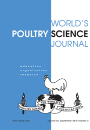 World's Poultry Science Journal Volume 66 - Issue 3 -
