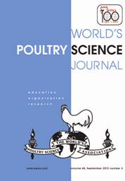 World's Poultry Science Journal Volume 68 - Issue 3 -
