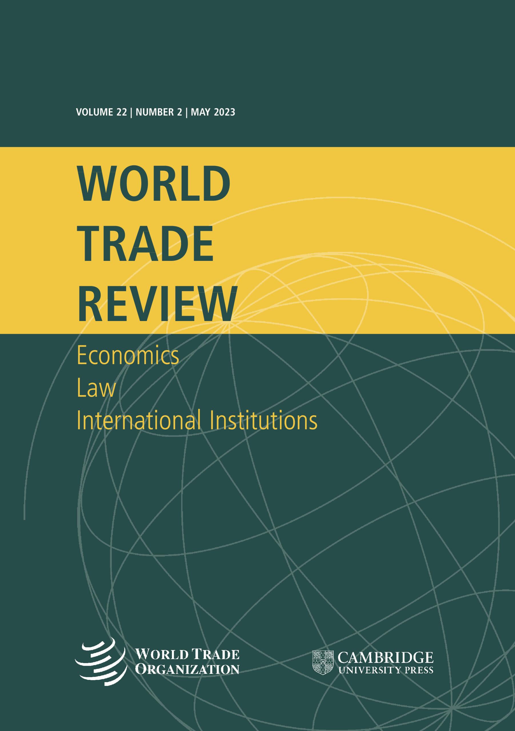 World Trade Review | Cambridge Core