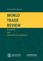 World Trade Review Volume 12 - Issue 1 -