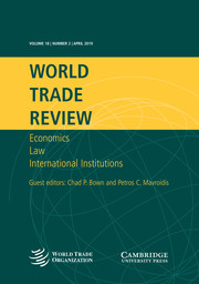 World Trade Review Volume 18 - Issue 2 -