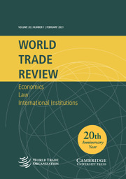 World Trade Review Volume 20 - Issue 1 -