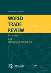World Trade Review Volume 3 - Issue 1 -