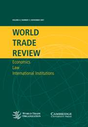 World Trade Review Volume 6 - Issue 3 -