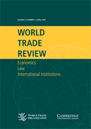 World Trade Review Volume 8 - Issue 2 -