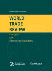 World Trade Review Volume 8 - Issue 4 -