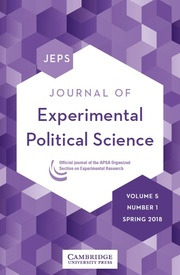 Journal of Experimental Political Science Volume 5 - Issue 1 -
